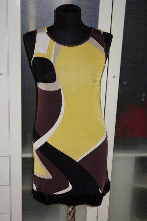 Org. PIU & PIU Sommerkleid mit Pailletten gemustert Gr.34/36