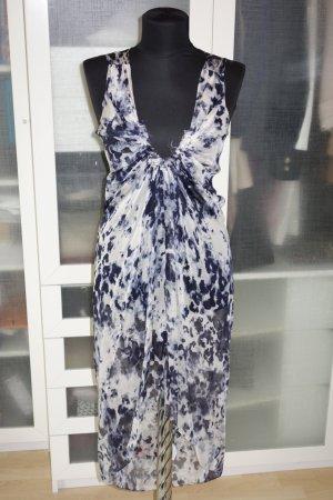 Org. PLEIN SUD Kaftan-Kleid aus Seide mit Print