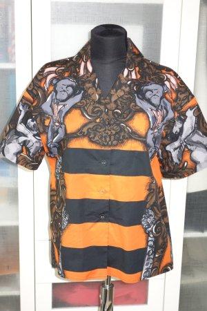 Org. PRADA oversized Kurzarm-Bluse mit Muster Gr.36