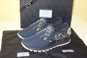 Org. PRADA Runway Sneaker mit Strasssteinen UVP:1200€ sold out Gr.39,5 NEU+Karton