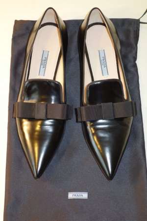 Prada Ballerines noir cuir