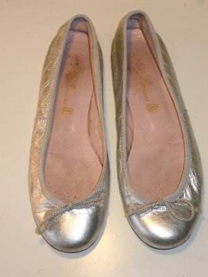 Org. PRETTY BALLERINAS in silber Gr.36,5 metallic