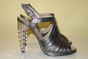 Proenza schouler High-Heeled Sandals silver-colored-grey leather
