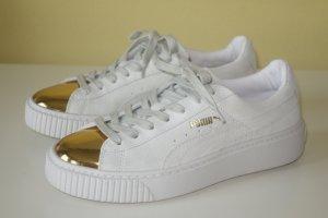 Org. PUMA Sneaker mit dicker Sohle und goldenen Kappen NEU Gr.39