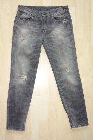 Org. R13 relaxed skinny boyfriend Jeans im distressed Look Gr.27