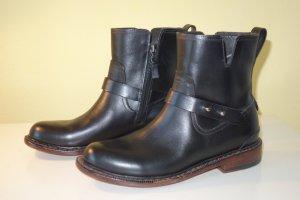 Org. RAG & BONE New York Biker Boots aus Leder in schwarz Gr.38,5 NEU
