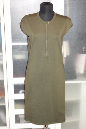Org. RALPH LAUREN black label Jersey Kleid khaki Gr.40