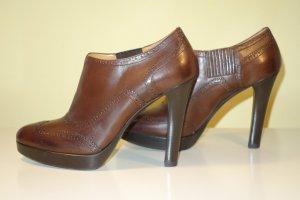Org. RALPH LAUREN Collection Plateau Ankle Boots dunkelbraun Gr.40
