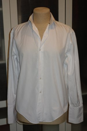 Org. RALPH LAUREN Collection purple line oversized Bluse in weiß Gr.36