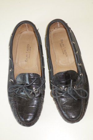 Ralph Lauren Moccasins black leather
