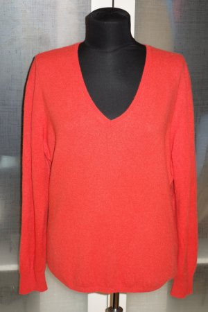 Org. REPEAT Kaschmir Pullover in rot-orange Gr.40/42