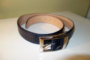 Reptile's House Leather Belt dark blue