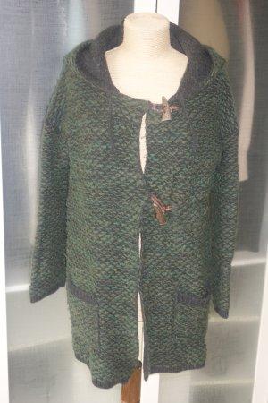 Roberto Collina Veste tricotée en grosses mailles vert foncé