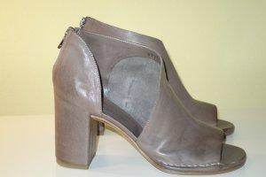 Sandalo marrone-grigio Pelle