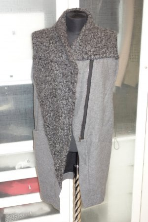 Long Knitted Vest grey