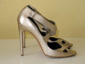 Rupert Sanderson High-Heeled Sandals gold-colored leather