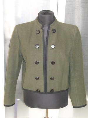 Org. SAINT LAURENT rive gauche vintage military Cabanjacke Wolle Gr. 40