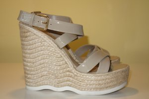 Saint Laurent Wedge Sandals beige