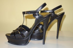 Org. SAINT LAURENT Tribute Plateau Sandaletten in schwarz Gr.40