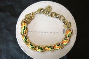Org. SCHUMACHER Armand/bracelett handmade Metall gold inkl. Box