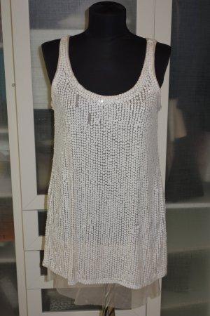 Org. SCHUMACHER Pailletten-Minikleid in weiß Gr.M