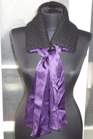 Org. SCHUMACHER Schal aus Wolle/Seide in schwarz/violett