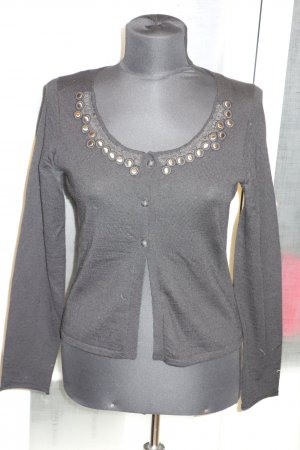 Org. SCHUMACHER Strickjacke mit Applikationen Gr.36