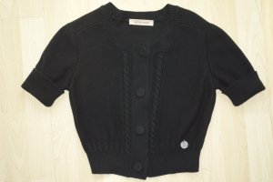 See by Chloé Short Sleeve Knitted Jacket black cotton