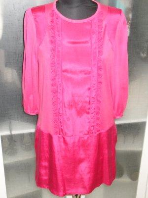 Org. SEE BY CHLOE Sommerkleid pink raffled Details Gr.38