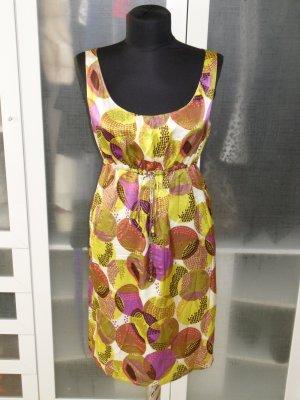 Org. SET Seidenkleid Sommerkleid gemustert Gr.38