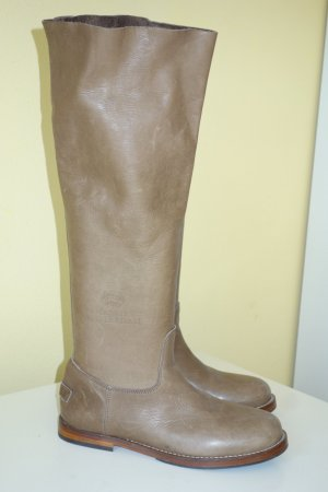 Shabbies amsterdam Slouch Boots grey brown leather