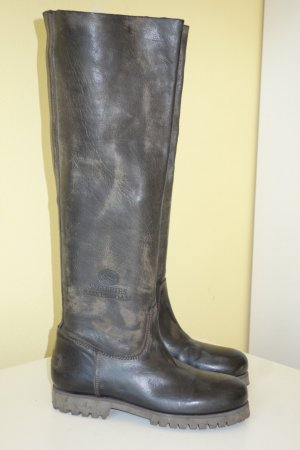 Shabbies amsterdam Slouch Boots taupe leather