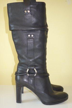 Sonia Rykiel Botte haute noir cuir