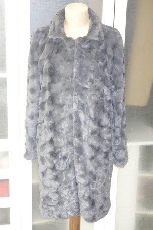 Org. STEFFEN SCHRAUT fake fur Mantel in grau Gr.44