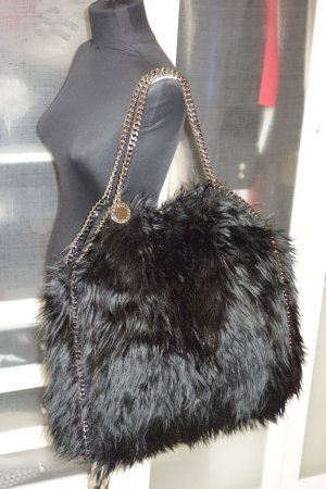 Org. STELLA McCARTNEY Falabella XL fake fur schwarz sold out