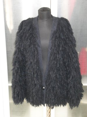 Org. STELLA McCARTNEY oversized Fringe Cardigan schwarz soldo out