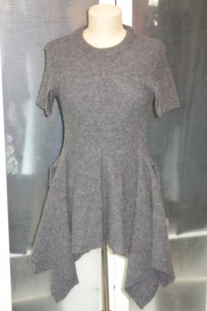 Org. STELLA McCARTNEY Runway Strick-Shirt/Kleid in dunkelgrau Gr.34