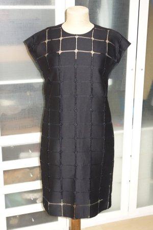 Org. STRENESSE Cocktailkleid mit tollem Stoff und Unterkleid in schwarz Gr.40