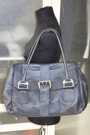 Org. STRENESSE Gabriele Strehle Leder-Handtasche in graublau wie neu