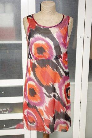 Org. STRENESSE Gabriele Strehle Seiden-Kleid mit Print Gr.36