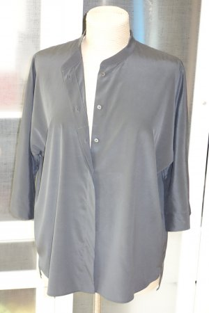 Strenesse Silk Blouse anthracite-taupe silk