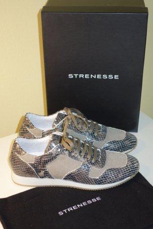 Org. STRENESSE Sneaker mit Echsenleder Gr.38 NEU+Karton