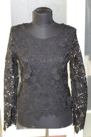 Org. STRENESSE Spitzen-Oberteil/Pullover in schwarz Gr.36/38