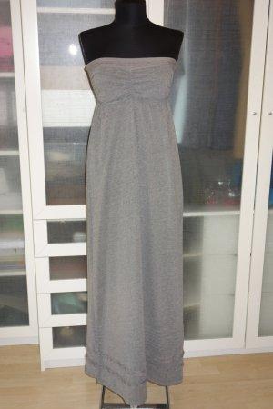 Org. SUPERDRY bandeau maxi dress aus Baumwolle in grau Gr.S