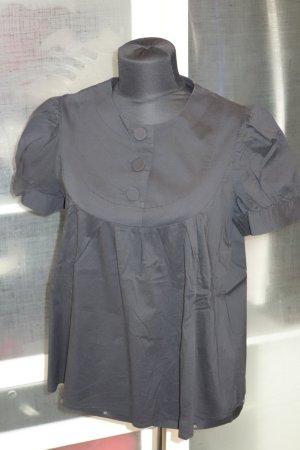 Org. TARA JARMON Kurzarm-Bluse in schwarz Gr.40