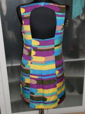Org. TIBI Runway Seiden-Kleid multicolour Eyecatcher rückenfrei Gr.36