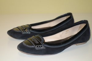 Org. TOD'S Ballerinas/Slipper Wildleder/Lackleder Gr.36,5