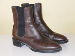 Org. TOD'S Chelsea Boots in braun Gr.38,5