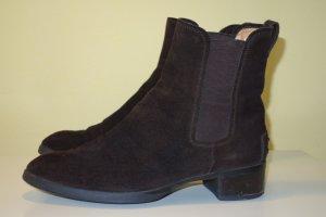 Org. TOD'S Chelsea Boots in dunkelbraun Wildleder Gr.37,5