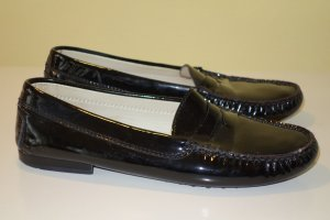 Org. TOD'S Loafer in dunkelblau Lackleder Gr.39,5